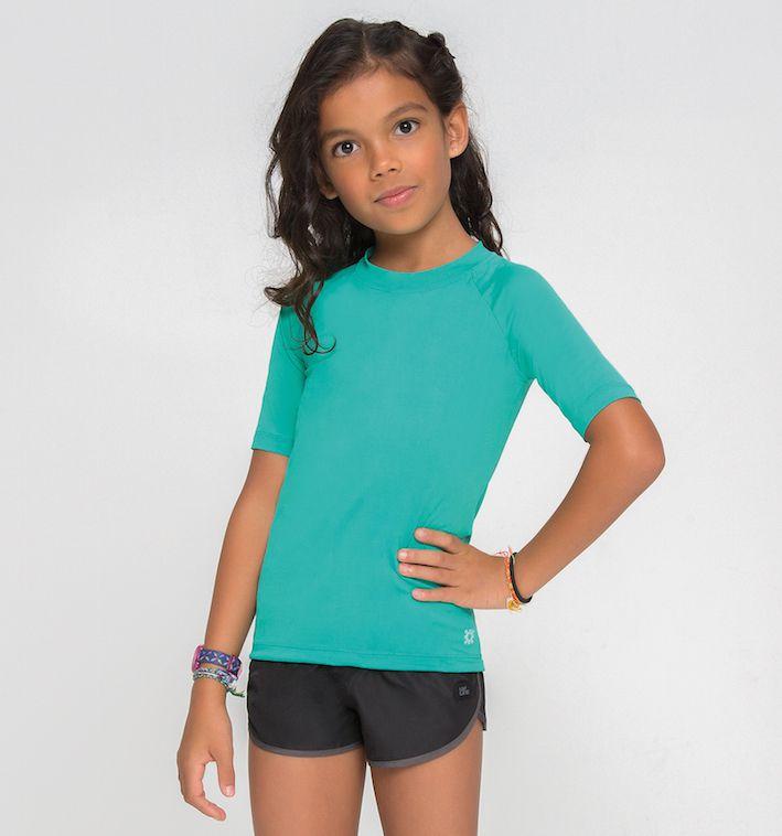 UV LINE Camiseta Uvpro Manga Longa Infantil Proteção Solar