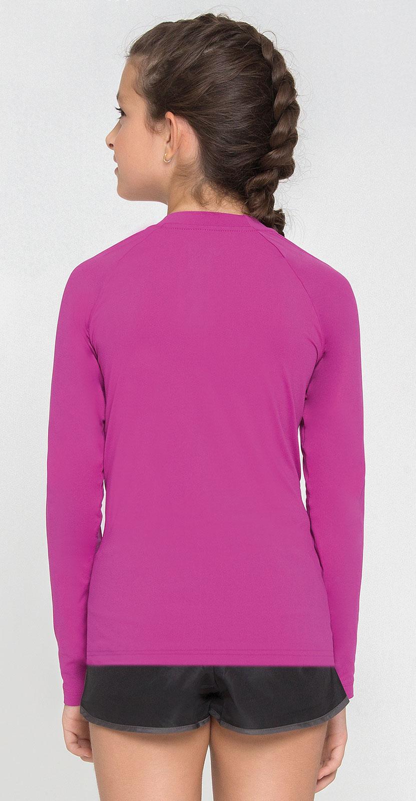 UV LINE Camiseta Uvpro Manga Longa Infantil Rosa Batom Proteção Solar