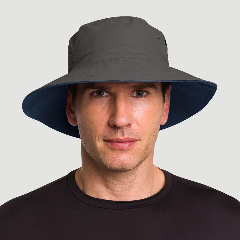 UV LINE Chapéu Austrália Masculino Chumbo/Marinho Proteção Solar