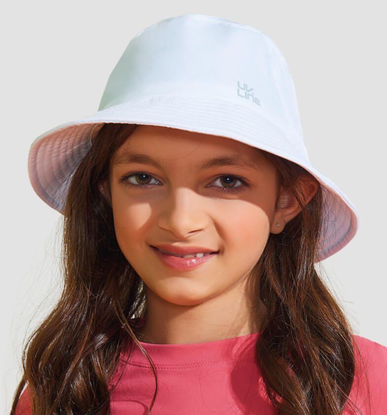 UV LINE Chapéu Basic Kids Infantil Branco Proteção Solar