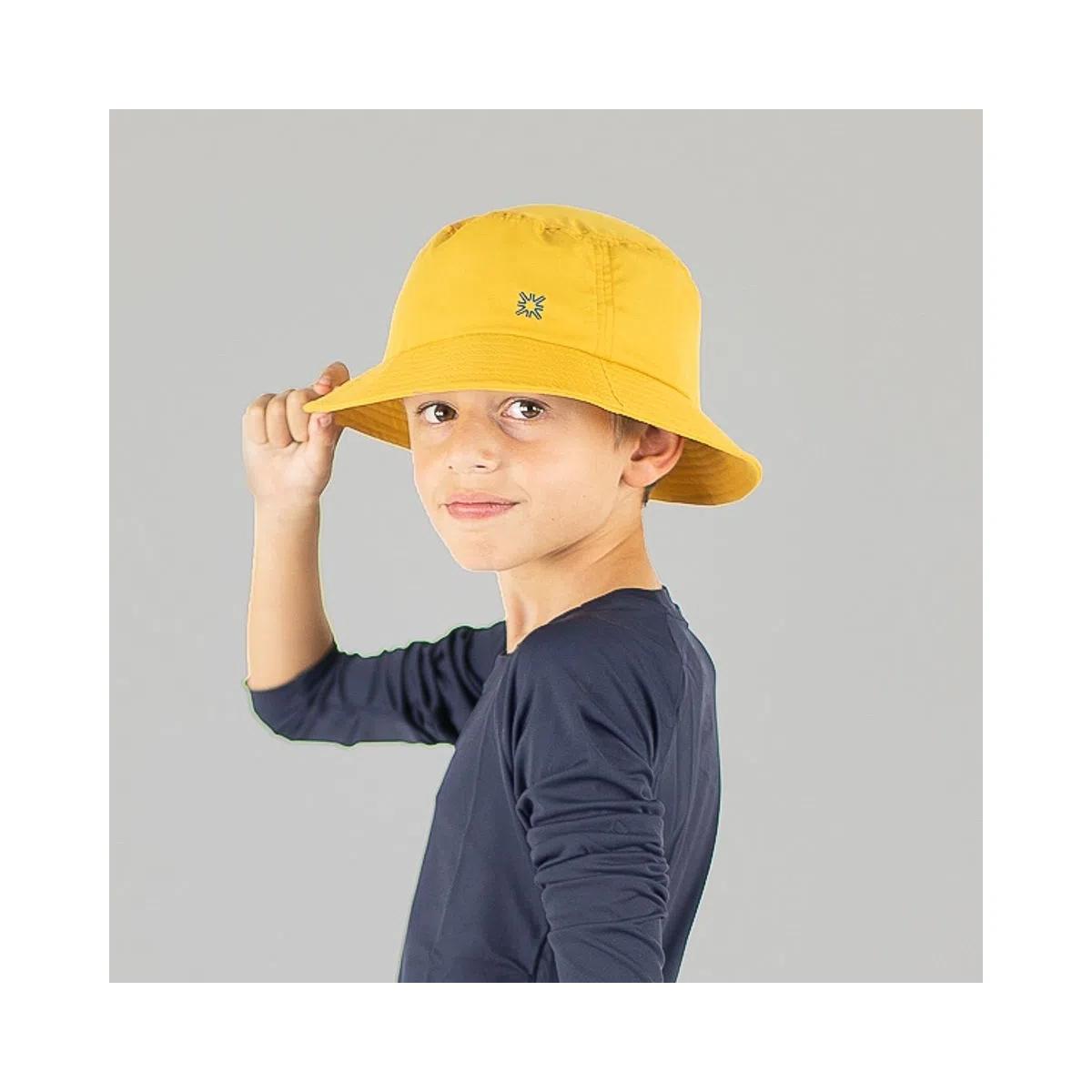 UV LINE Chapéu Basic Kids Infantil Mostarda Proteção Solar