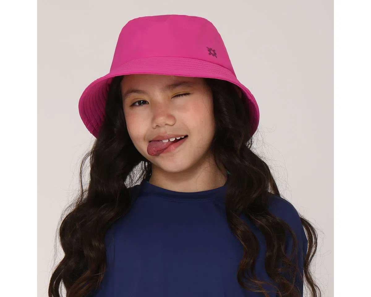 UV LINE Chapéu Basic Kids Infantil Pink Proteção Solar