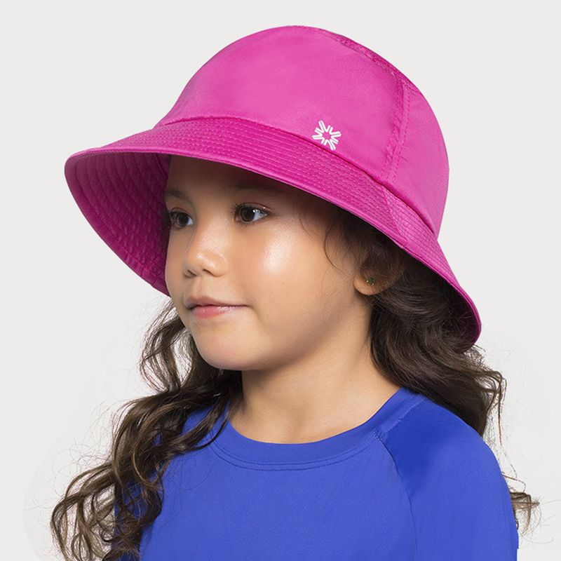 UV LINE Chapéu Basic Kids Infantil Rosa Shock Proteção Solar