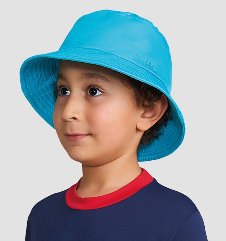 UV LINE Chapéu Basic Kids Infantil Verde Água Proteção Solar