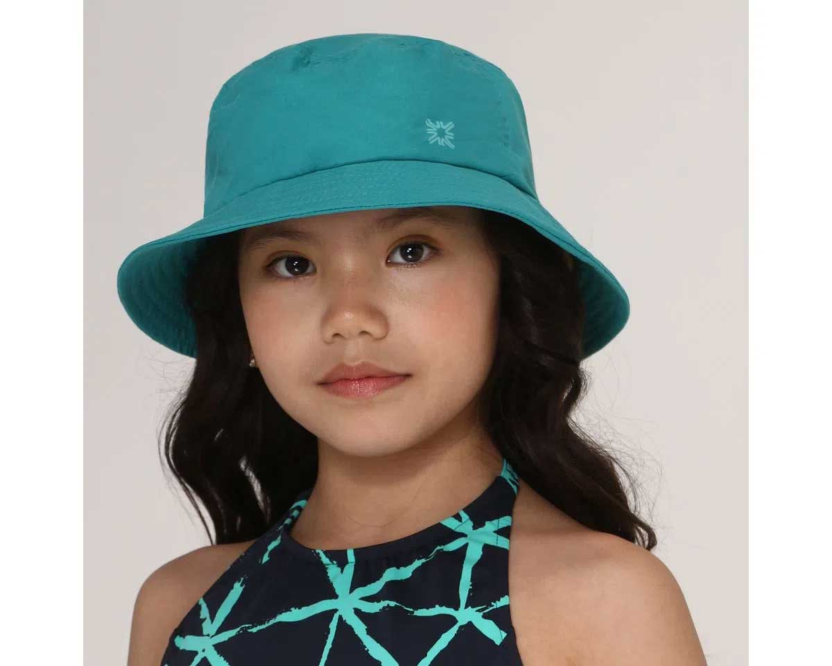 UV LINE Chapéu Basic Kids Infantil Verde Mar Proteção Solar