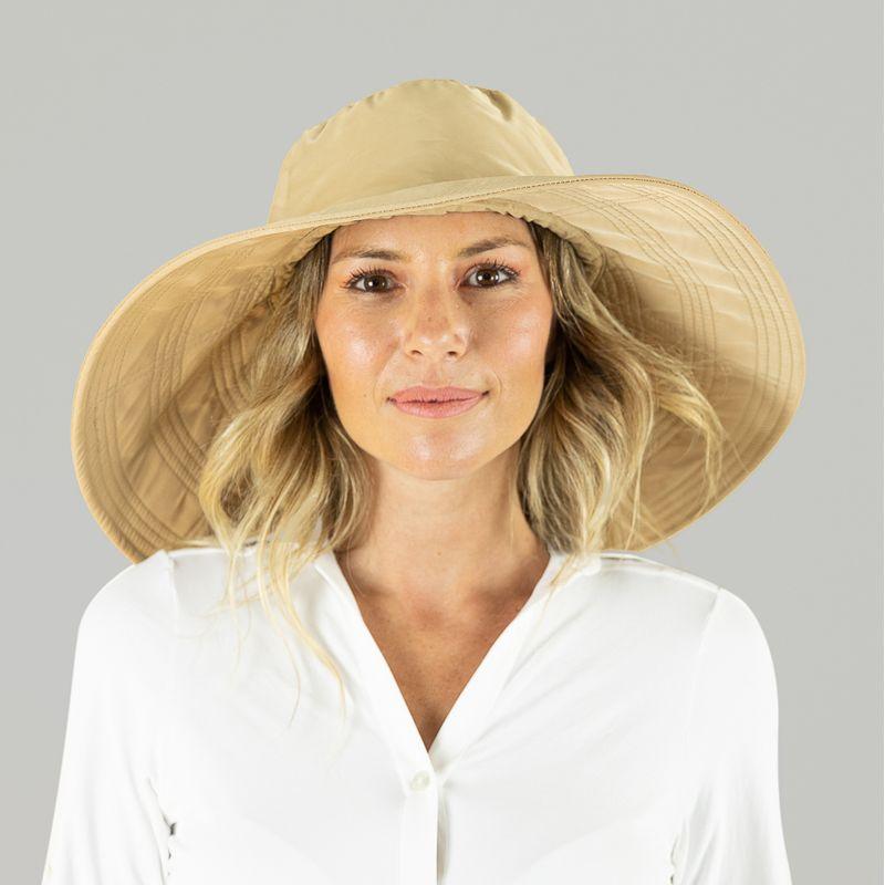 UV LINE Chapéu Beverly Hills Feminino Kaki Proteção Solar