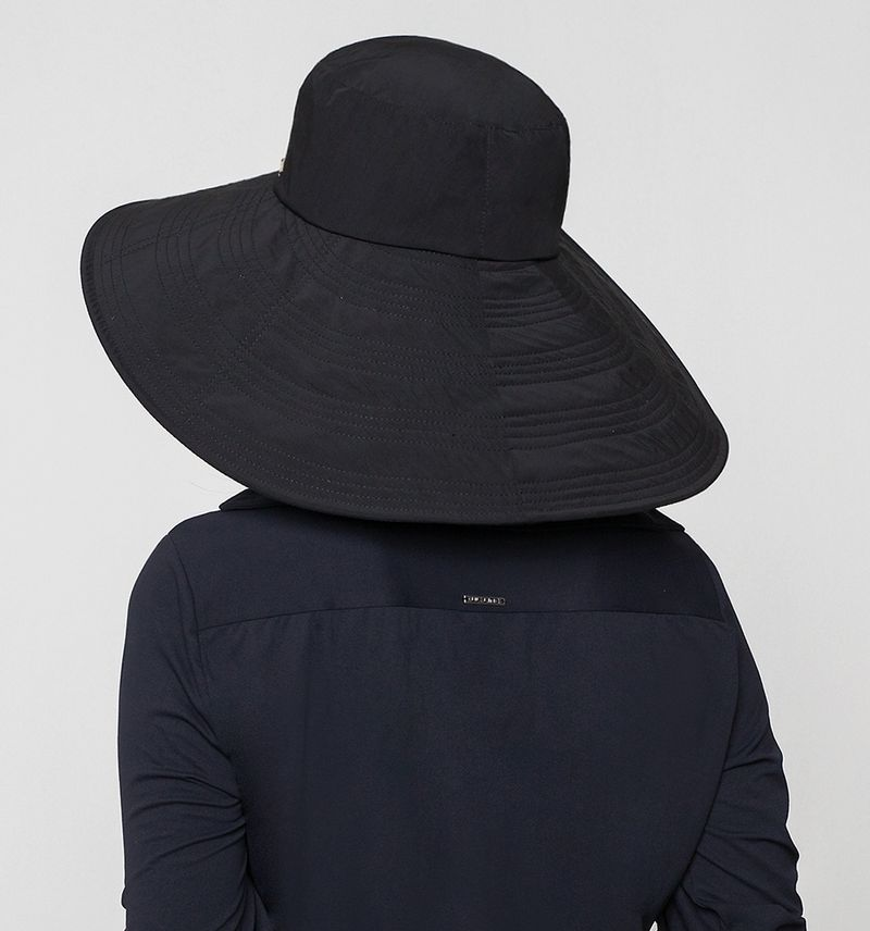 UV LINE Chapéu Beverly Hills Feminino Preto Proteção Solar