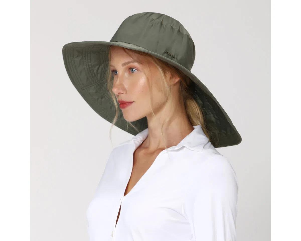 UV LINE Chapéu Beverly Hills Feminino Verde Militar Proteção Solar