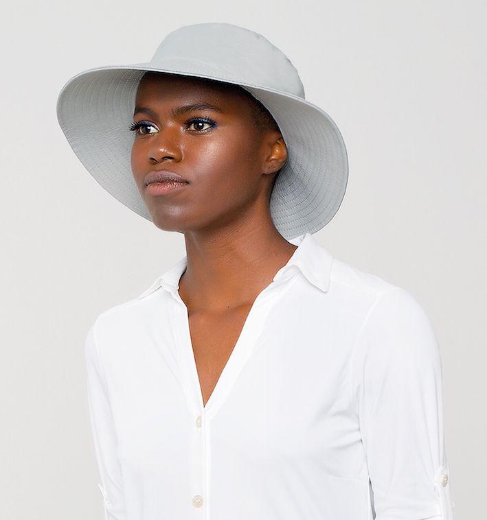 UV LINE Chapéu Califórnia Feminino Cinza Proteção Solar