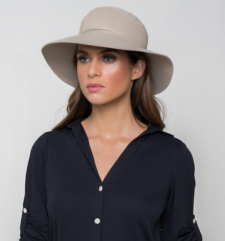 UV LINE Chapéu Califórnia Feminino Kaki Proteção Solar