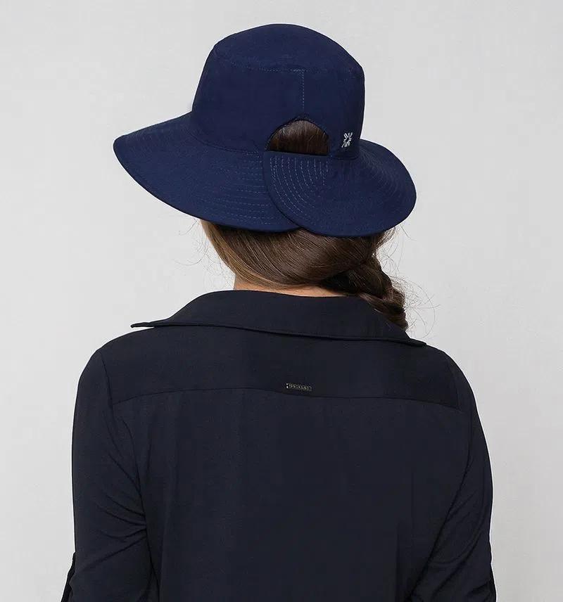 UV LINE Chapéu Califórnia Feminino Marinho Proteção Solar
