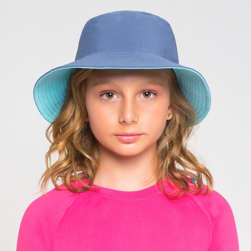 UV LINE Chapéu California Infantil Azul Piscina/Índigo Proteção Solar