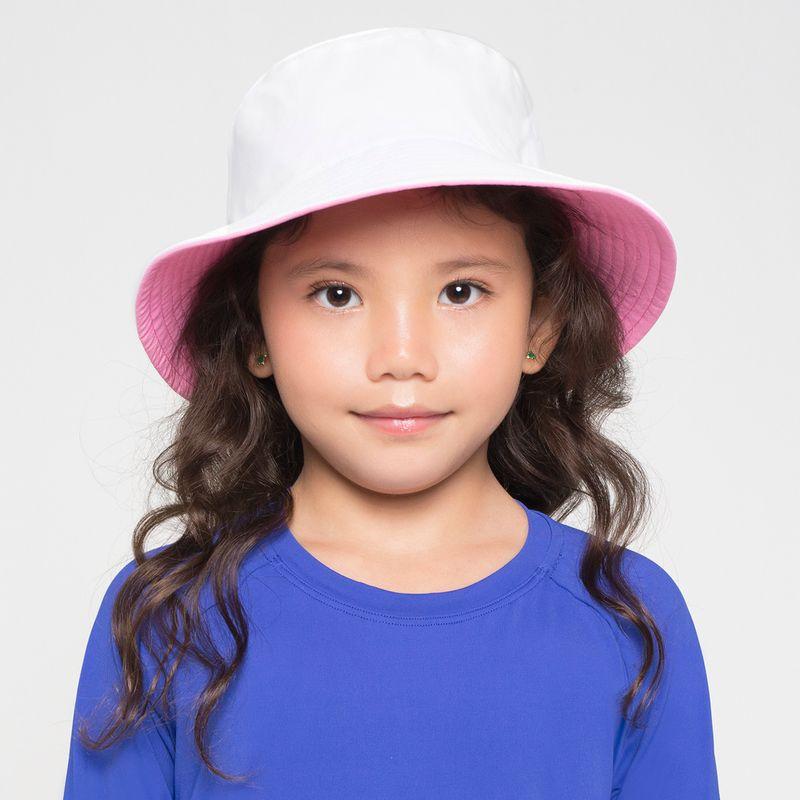 UV LINE Chapéu Califórnia Infantil Branco/Rosa Proteção Solar
