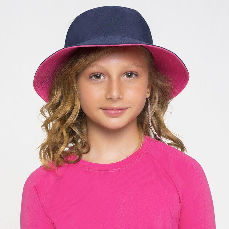 UV LINE Chapéu California Infantil Marinho Pink Proteção Solar