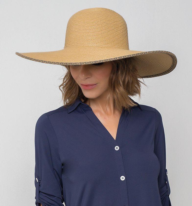 UV LINE Chapéu Caribe Feminino Trigo Proteção Solar