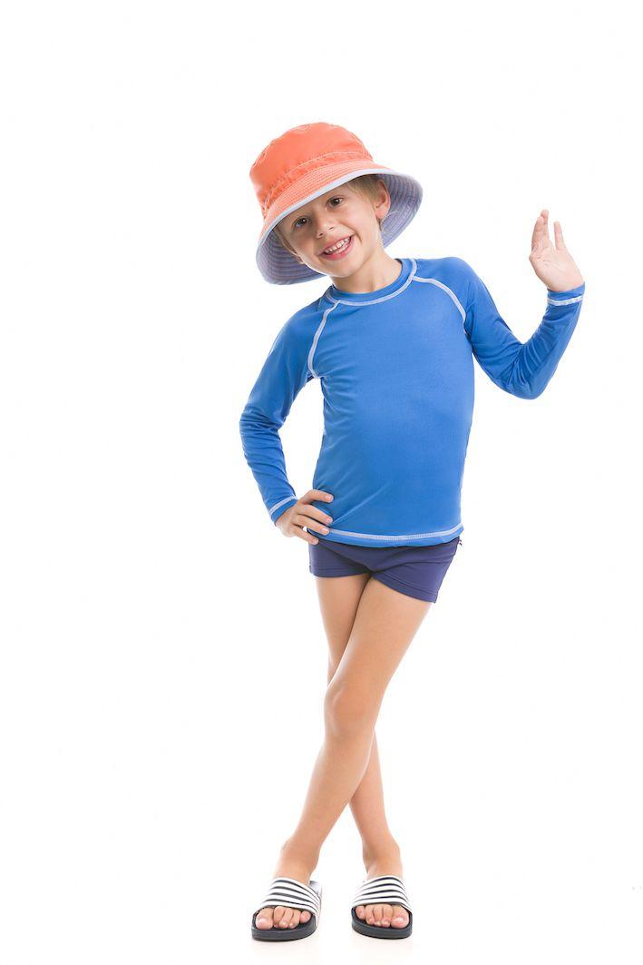 UV LINE Chapéu Colors Infantil Azul Proteção Solar