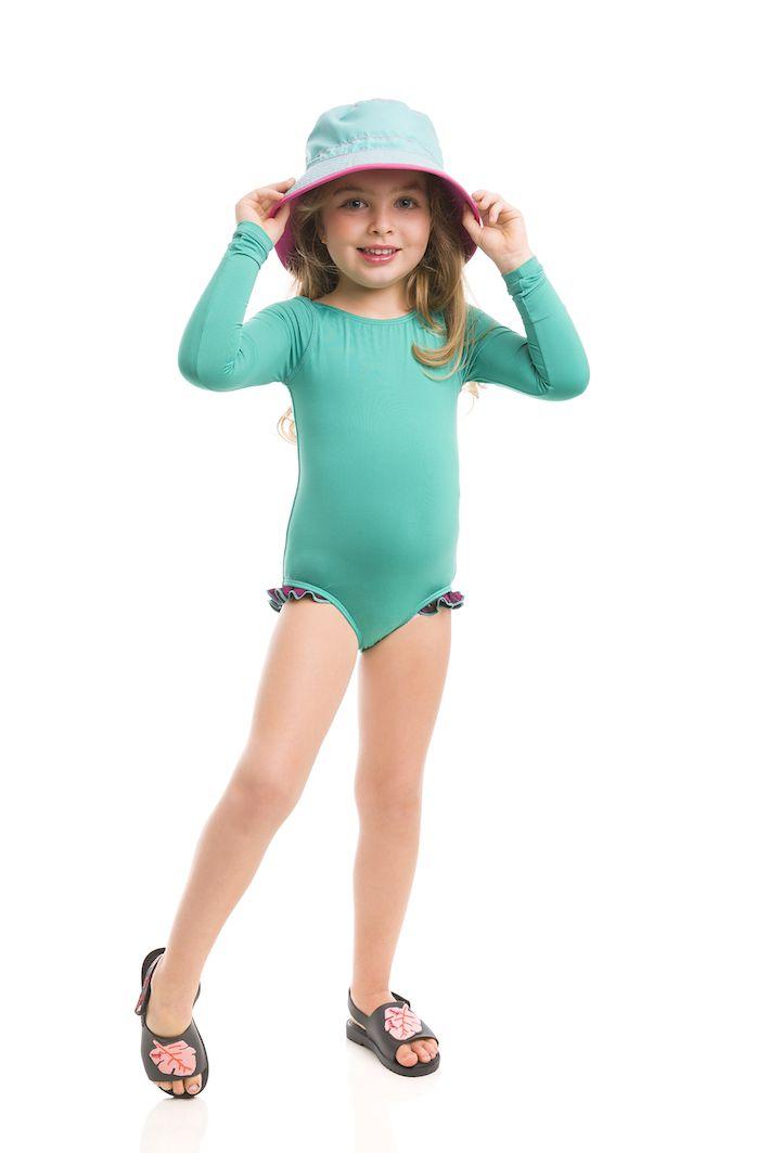 UV LINE Chapéu Colors Infantil Rosa Verde Proteção Solar