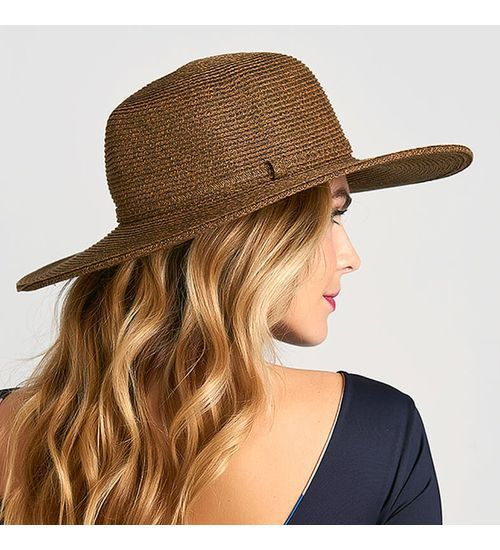 UV LINE Chapéu Jurerê Feminino Marrom Proteção Solar