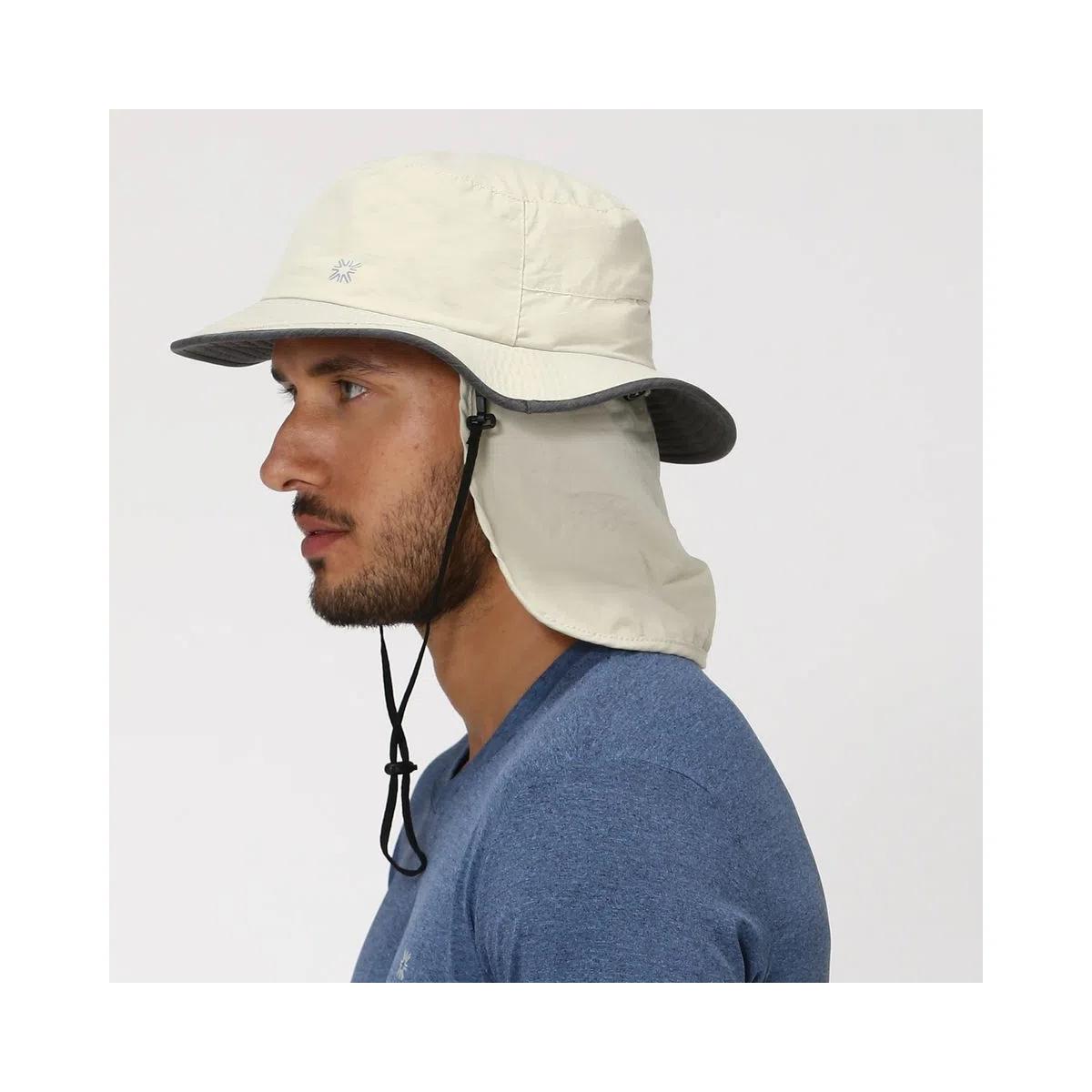 UV LINE Chapéu Kansas Masculino Areia/Cinza Proteção Solar
