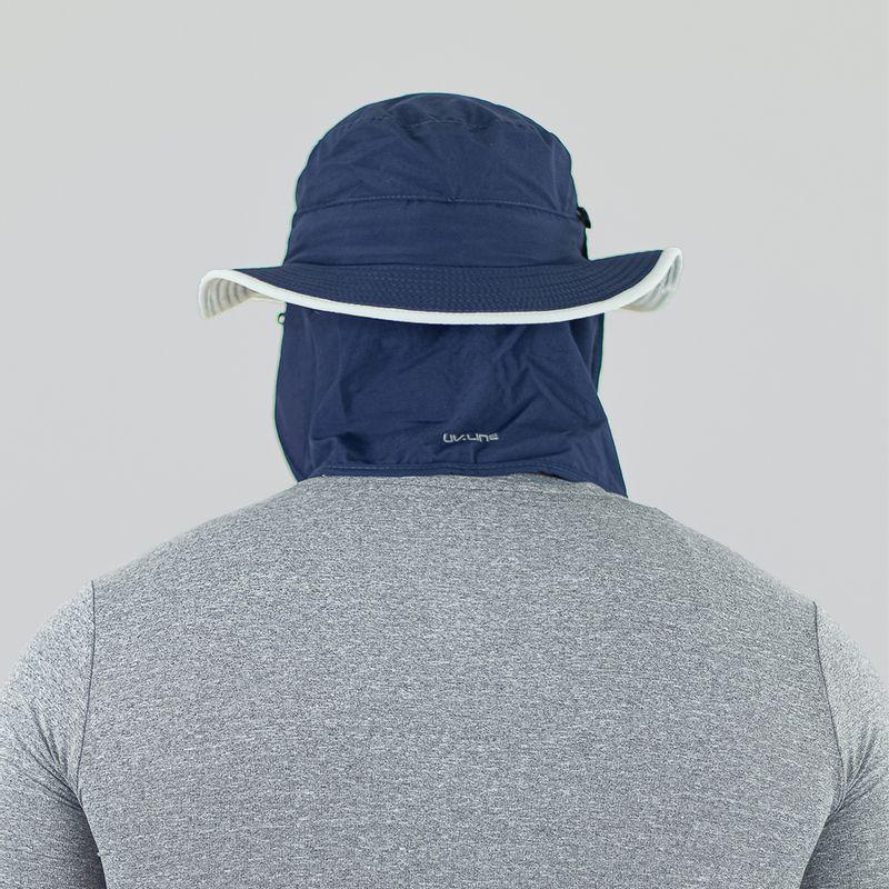 UV LINE Chapéu Kansas Masculino Azul Índigo/Cinza Proteção Solar