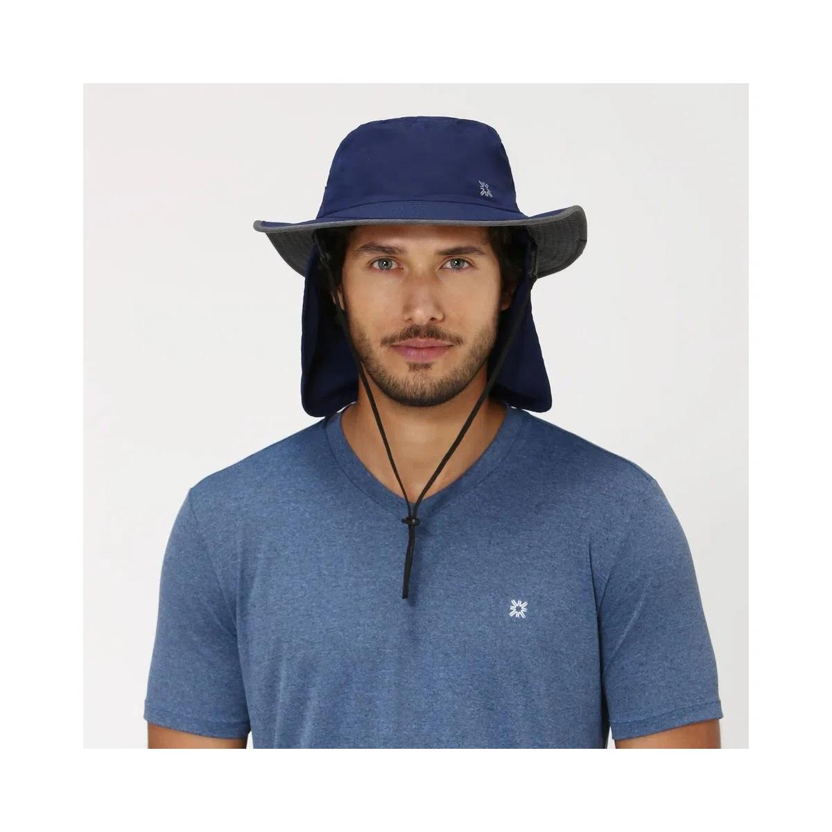 UV LINE Chapéu Kansas Masculino Marinho/Cinza Proteção Solar