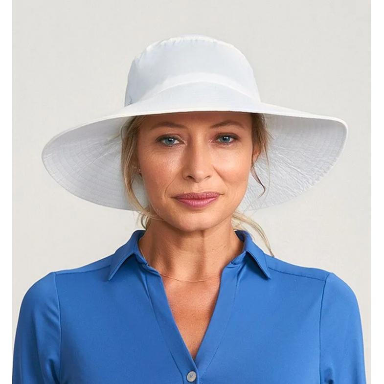 UV LINE Chapéu Lyon Feminino Branco Proteção Solar