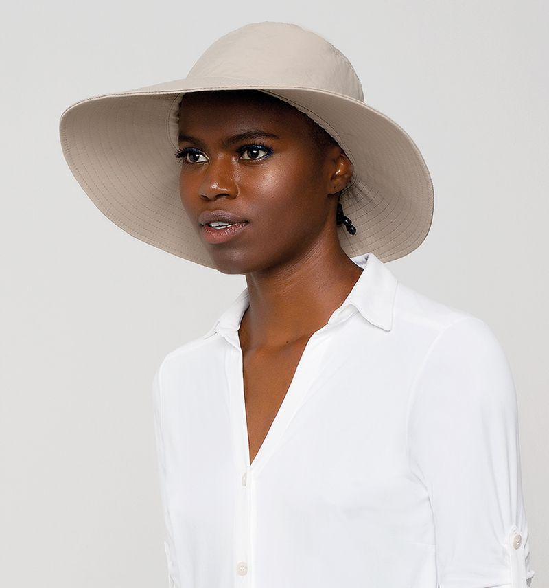 UV LINE Chapéu Lyon Feminino Kaki Proteção Solar