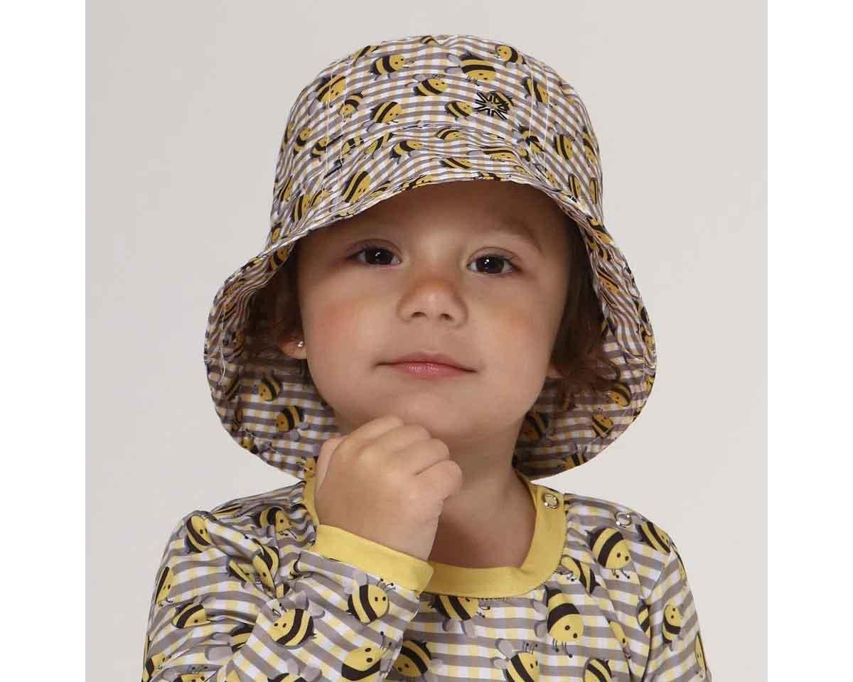 UV LINE Chapéu Napoli Abelha Infantil Tricolor Proteção Solar