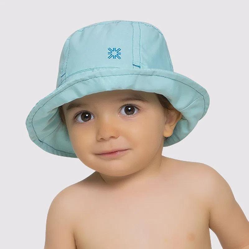 UV LINE Chapéu Napoli Basic Kids Infantil Verde Água Proteção Solar