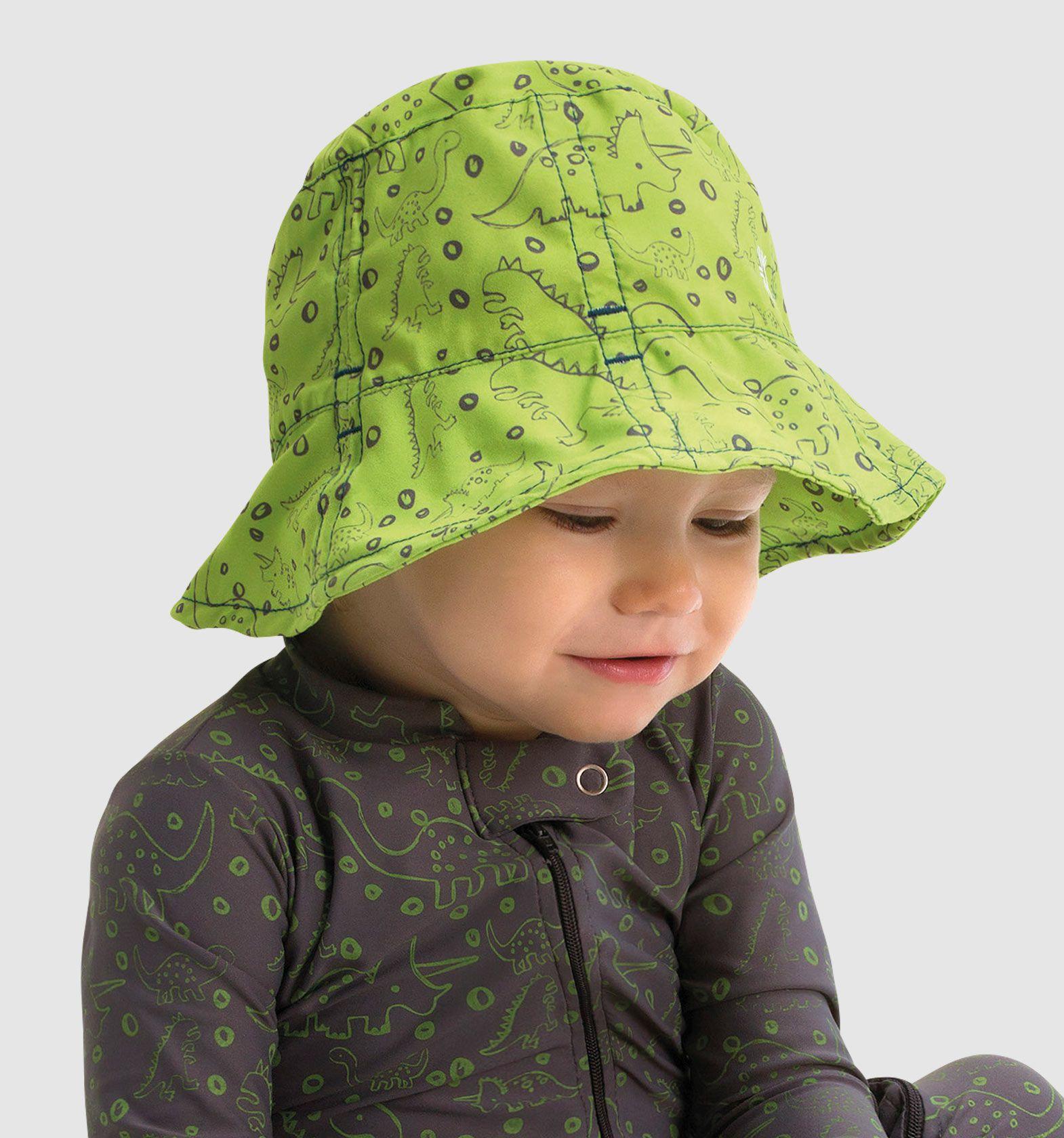 UV LINE Chapéu Napoli Dino Infantil Verde Claro Proteção Solar