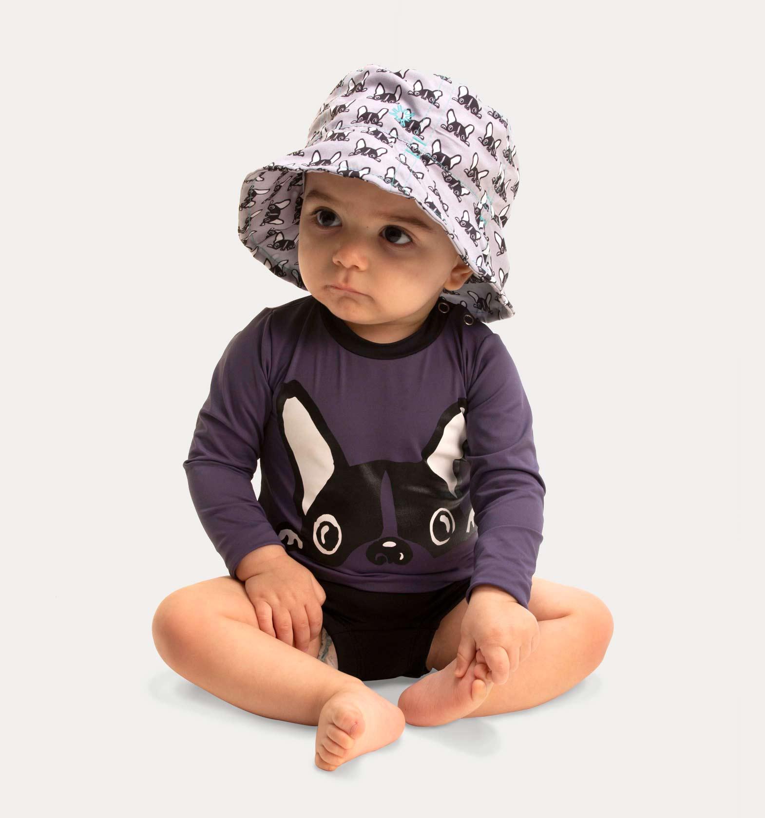 UV LINE Chapéu Napoli Dog Infantil Rosa Claro Proteção Solar