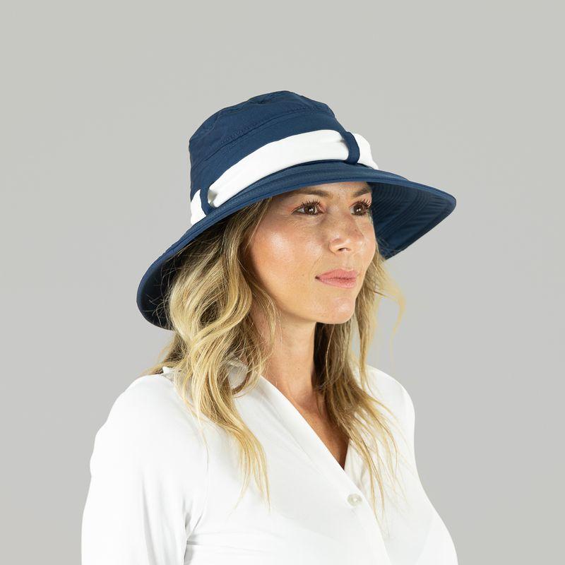 UV LINE Chapéu Paris Ville Feminino Azul/Branco Proteção Solar