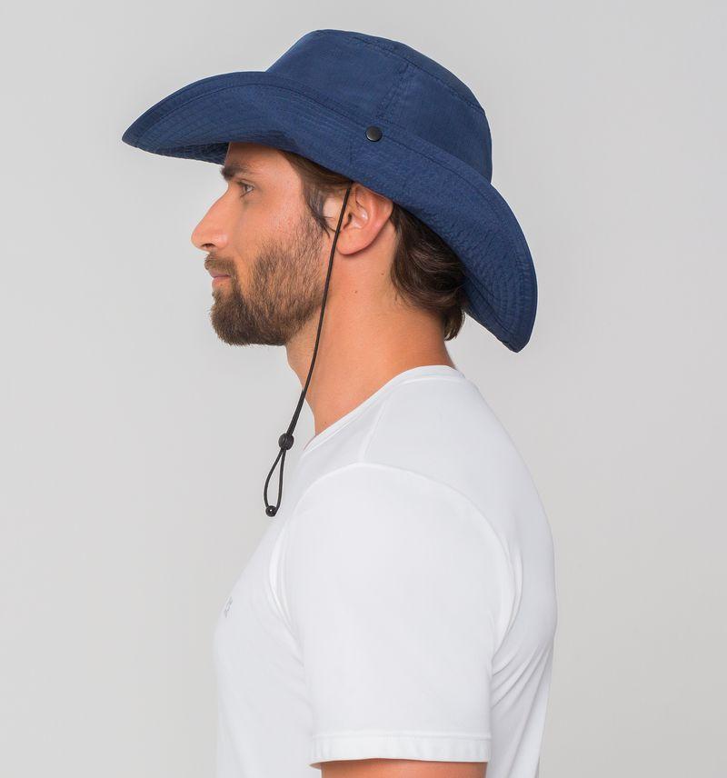 UV LINE Chapéu Safari Masculino Marinho Proteção Solar