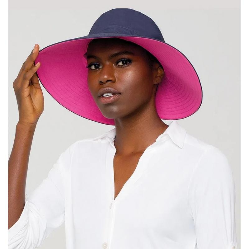 UV LINE Chapéu San Diego Feminino Marinho/Pink Proteção Solar