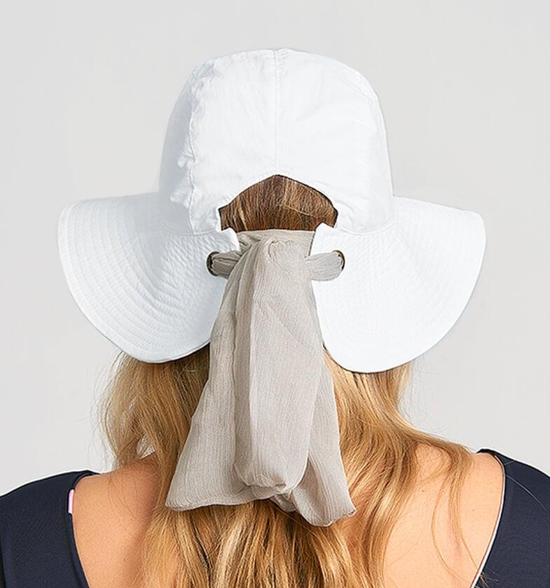 UV LINE Chapéu San Remo Feminino Branco Proteção Solar