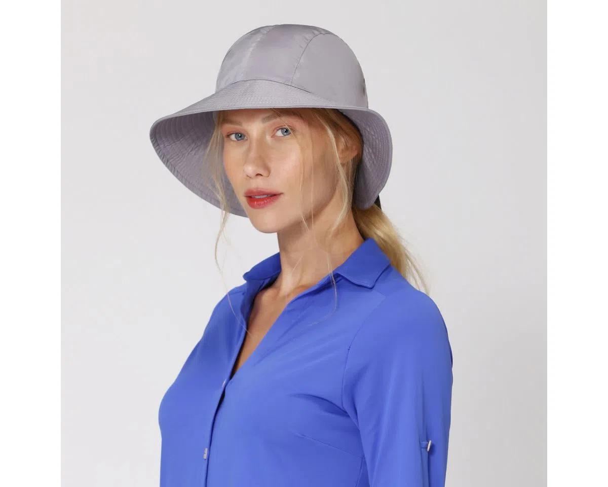 UV LINE Chapéu San Remo Feminino Cinza Proteção Solar
