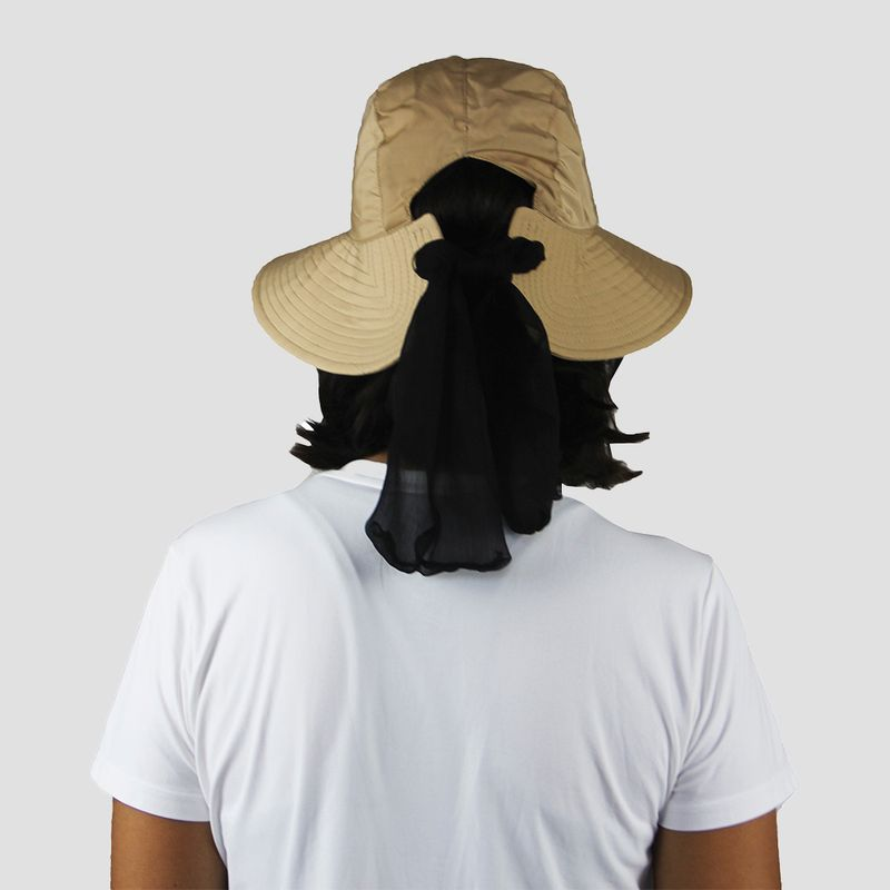 UV LINE Chapéu San Remo Feminino Kaki/Preto Proteção Solar