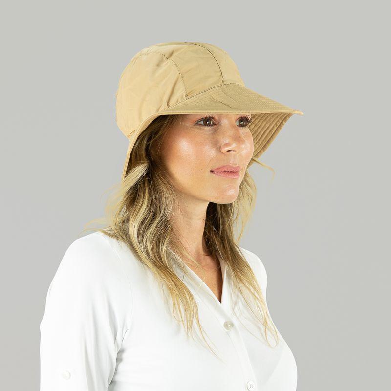 UV LINE Chapéu San Remo Feminino Kaki Proteção Solar