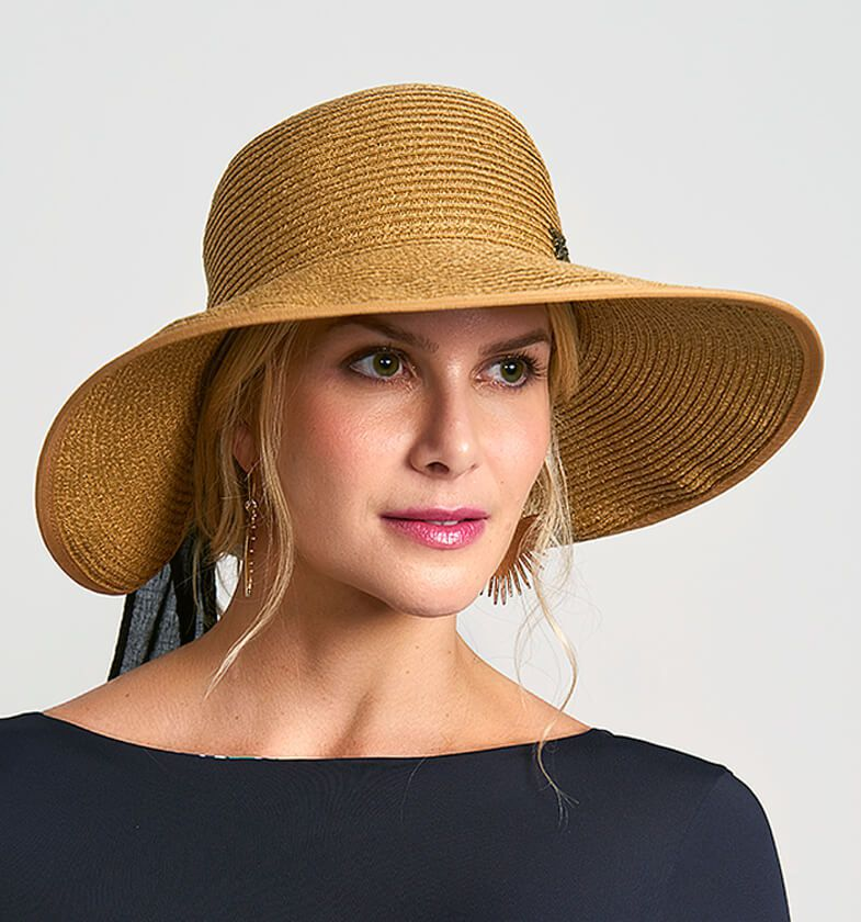 UV LINE Chapéu Santorini Feminino Trigo Proteção Solar