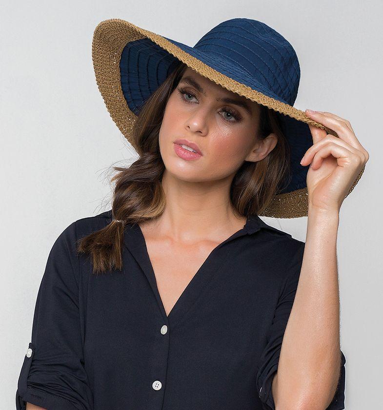 UV LINE Chapéu Sardenha Feminino Marinho Proteção Solar