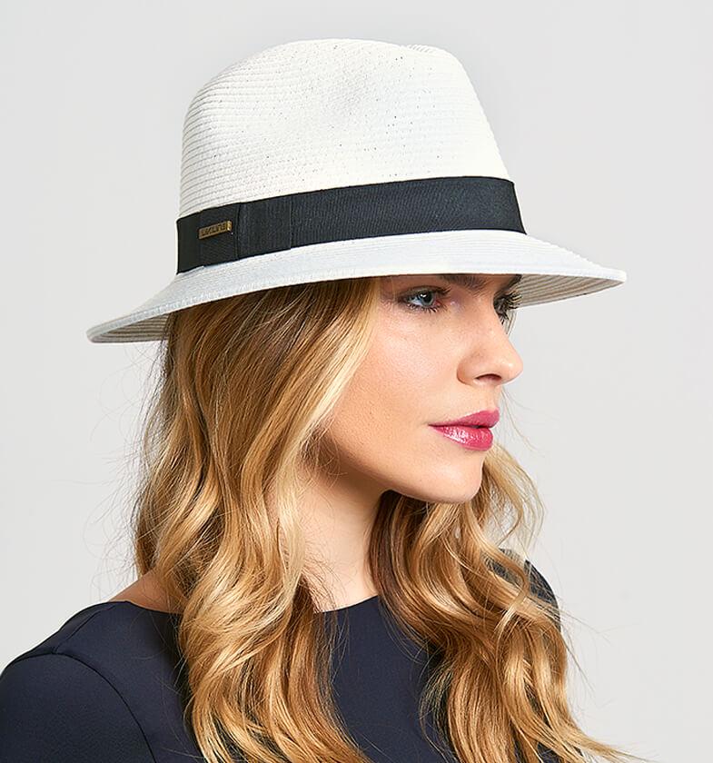UV LINE Chapéu Shanghai Panamá Unissex Branco Proteção Solar