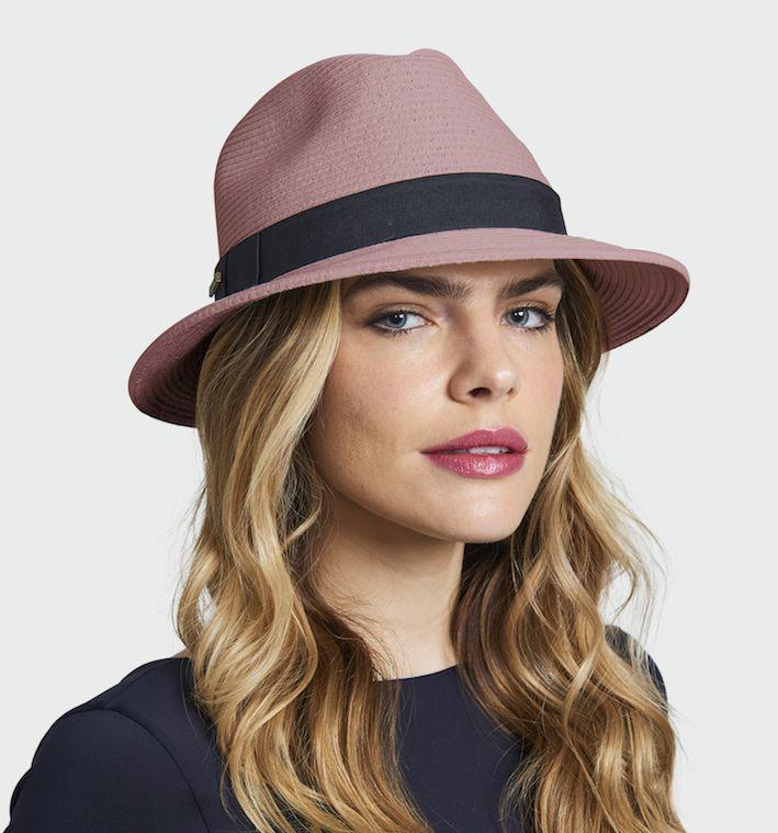 UV LINE Chapéu Shanghai Panamá Unissex Nude Proteção Solar