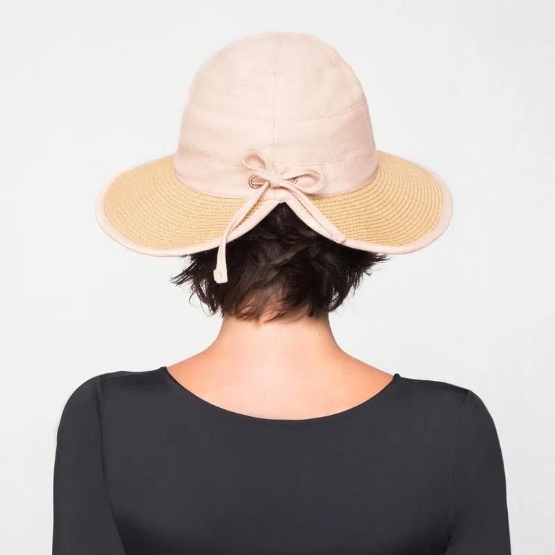 UV LINE Chapéu Thai Feminino Trigo Proteção Solar