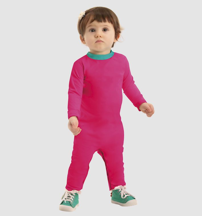 UV LINE Macaquinho Baby Manga Longa Infantil Pink Proteção Solar