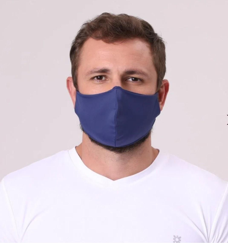 UV LINE Máscara de Tecido Poliamida Marinho