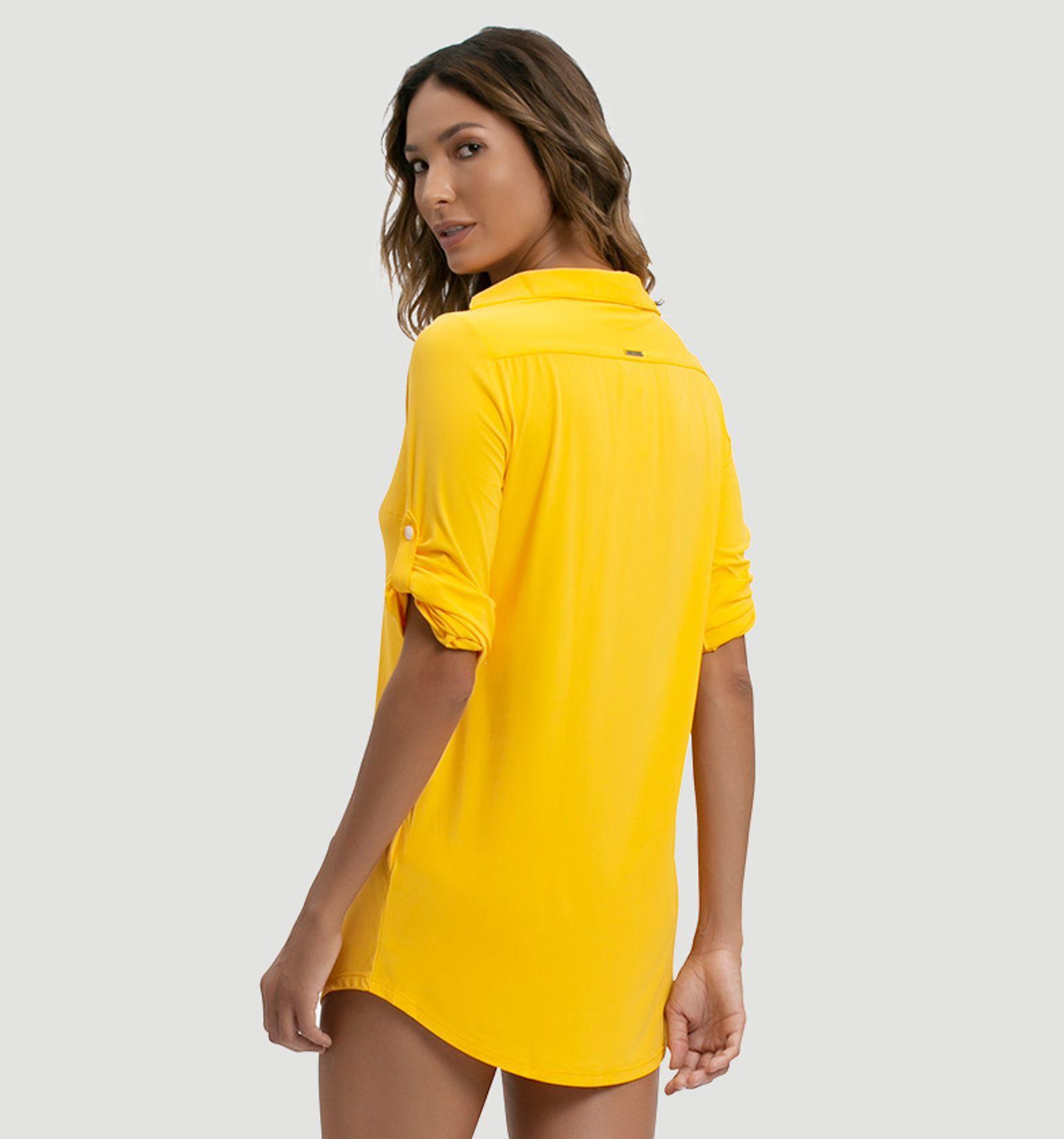 UV LINE Saída de Praia Copenhagen Color Feminino Amarelo Proteção Solar