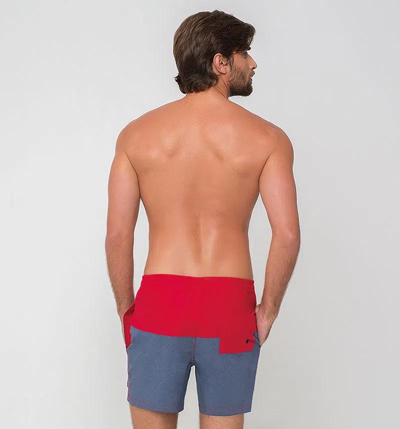 UV LINE Short Acqua Color Block V20 Masculino Proteção Solar
