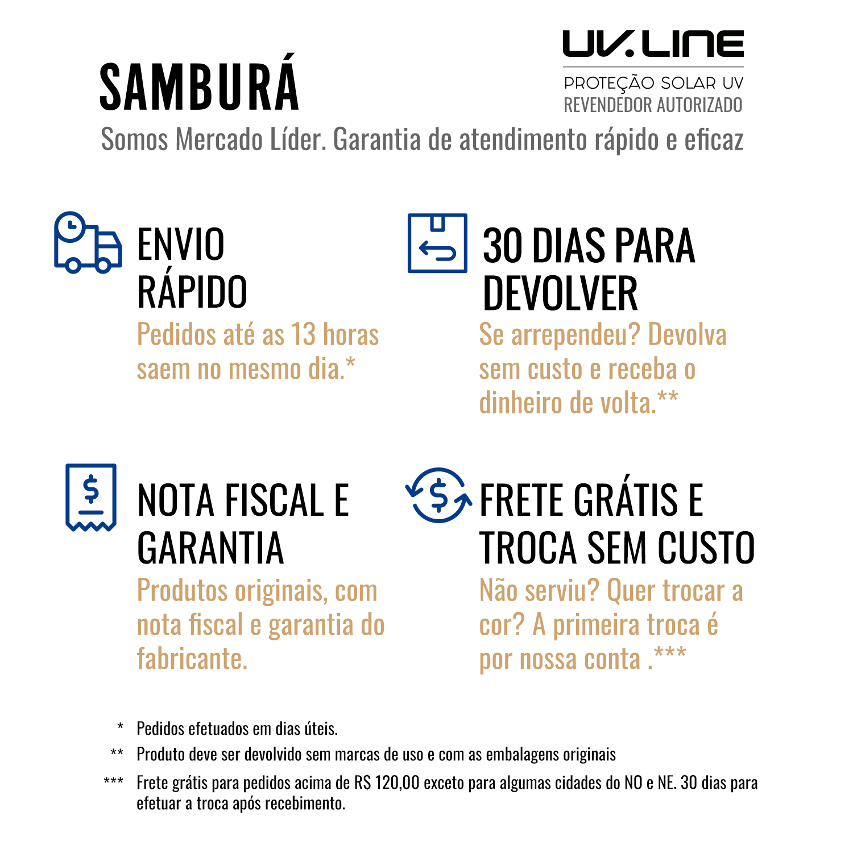 UV LINE Sombrinha Automática Acqua Block Preto com Proteção Solar