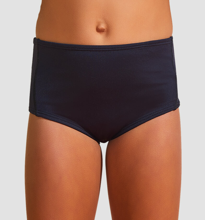 UV LINE Sunkini Hot Pant Infantil Preto Proteção Solar