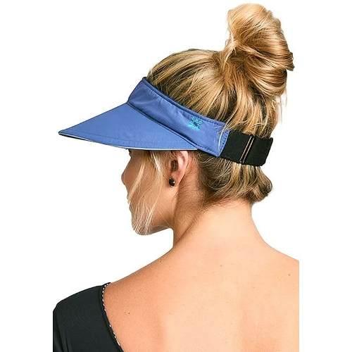 UV LINE Viseira Athleta Feminino Azul Índigo Proteção Solar